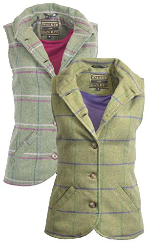 Walker & Hawkes - Dames Tweed Ashby Country Waistcoat Gilet