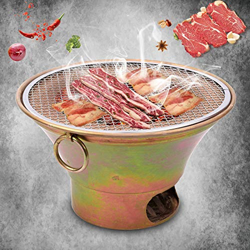 ZFLL Klappgrill Old Clay Oven Barbecue Korean Carbon fire Barbecue Stove Japanese Style Charcoal BBQ Stove Old Beijing Charcoal Roast Meat Grill