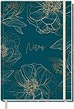 Trendstuff by Häfft - Cuaderno (A5+, en blanco, con banda de goma, 156 páginas, 78 hojas, como bloc, cuaderno de bocetos, diario, cuaderno de notas, sostenible y respetuoso con el medio ambiente