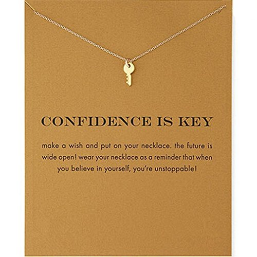 Myhouse Women Female Necklace Chain Alloy Key Shape Pendant Clavicle Chain