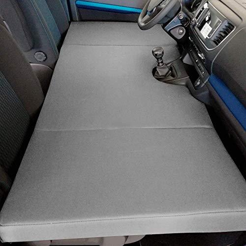 Colchón Plegable Camper para Peugeot Traveller, Citroen Jumpy SpaceTourer, Toyota Proace II (+2016) Cama Delantera Color Gris