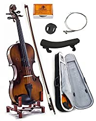 powerful SKY4 / 4 full size violin made of solid maple SKYVN201 with light pouch, Brazilian wooden bow, …