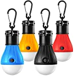 Camping Lights, Tent Lights with Carabiner Clips - Waterproof Portable Battery Operated Emergency Tent LED Light Bulb… 2
