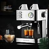 20 bares de café espresso café termómetro vapor italiano óptico-cocidas al horno por la familia...