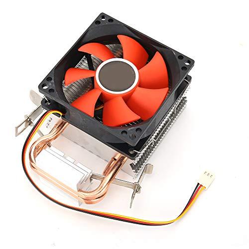 Ventilador Refrigeración Interno Compatible con 775AMD/1155 Kit Computación CPU Intel, Mini CPU Disipador Calor Compatible con Intel LGA1156/1155/775, 2 Heatpipes Radiador Ventilador