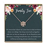 Family Tree Necklace Gift: Tree of Life Necklace, Pendant, Charm, Generations, Tree (rose-gold-plated-brass, NA)