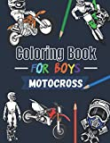 Coloring book for boys Motocross: Over 30 coloring pages to color and enjoy… | Dirtbike & Motorcycle for kids aged 6 – 14 (XtremSports Coloring)