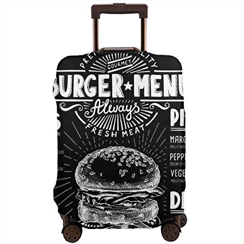 Travel Suitcase Protector,Food Menu Food Menu,Suitcase Cover Washable Luggage Cover M