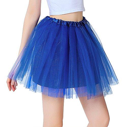 InnoBase Tutu Dames Rok Tulrok 50er korte ballet 3 lagen dansjurk accessoires voor vrouwen meisjes 8 kleuren