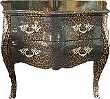 Casa Padrino cómoda barroca Leopardo Gris 105 cm - Muebles de Caja