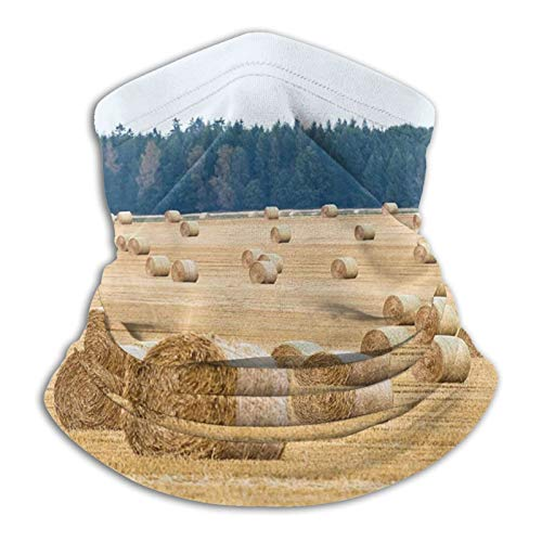 haoking Heno Bales - Funda para cuello con cubierta facial, bufanda resistente al viento y al polvo, bufanda reutilizable para hombres y mujeres, múltiples formas de vestirse