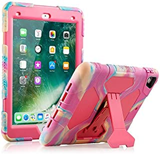 ACEGUARDER iPad 5th/6th Generation Cases, iPad 2018 Case, iPad 9.7 Inch Case, Hybrid Shockproof Rugged Drop Protection Cover Built with Kickstand No Screen Protector Included(Pink/Camo)