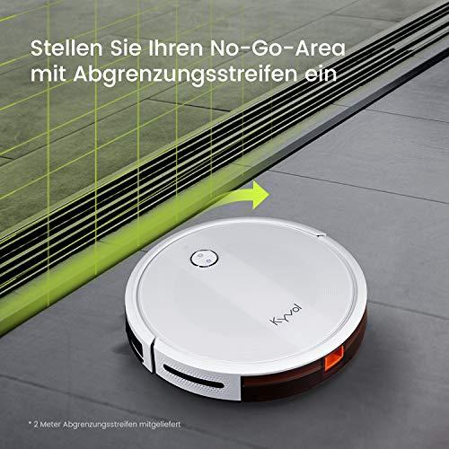 KYVOL E20 Saugroboter 2000Pa Starke Saugkraft Staubsauger Roboter, 150Min. Akkulaufzeit Roboterstaubsauger, Kompatibel mit Alexa, WLAN Saugroboter für Tierhaare,Teppiche, Hartböden,Weiß - 5