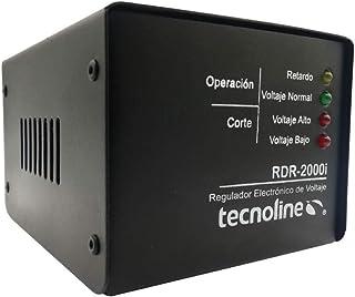 Tecnoline® RDR-2000iN Negro Regulador de Voltaje, Exclusivo Refrigeración, Lavadoras. 2000W, 600J, con Límites y Retardo p...