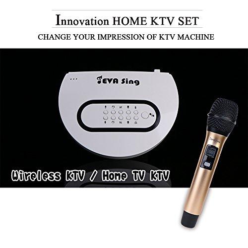 Read About 【EVASing】KTV Singing Machine Wireless WiFi Karaoke Portable Microphone, Home Party Bi...