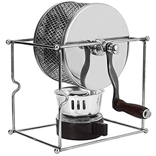 Coffee Roaster, Haushaltskaffeebohne Röstmaschine Edelstahl Roller Röstmaschine DIY Kaffeeröster Mit Griff 300G