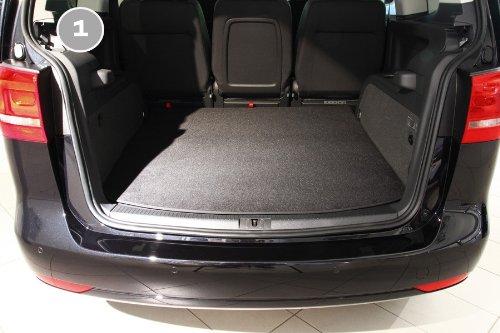 teileplus24 2603 2-teilige Auto Kofferraummatte für VW Sharan 2 Seat Alhambra 2 7N 2010- mit Ladekantenschutz