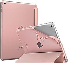 MoKo Funda Compatible con 2018/2017 iPad 9.7 6th/5th Generation, Ultra Delgado Función de Soporte TPU Protectora Plegable Cubierta Inteligente Trasera Transparente para iPad 9.7
