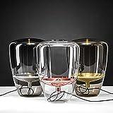Tavolo palloncini lampada da tavolo in vetro Brokis lampada da comodino pranzano prova vano assistito,vetro grigio fumé,Piastra oro rosa