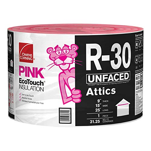 Owens Corning 'EcoTouch' PINK FIBERGLAS Insulation for Attic...