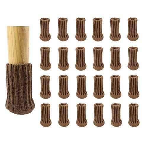 Savlot 24 stuks stoelpoten meubels poten sokken breien meubelmutsen set antislip stoelpoten voetafdekking