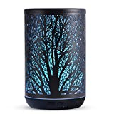 Essential Oil Diffuser, 300ml Ultrasonic Cool Mist Humidifier, Diffuser for Essential Oils Aromatherapy Diffuser, 7 Color LED Lights Waterless Auto-Off for Yoga Spa Bedroom (Tree-300ml)