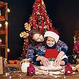 Demason 2 Stück Weihnachtsschürze Kochschürze Latzschürze mit Weihnachtsmann Küchenschürze/Grillschürze/BBQ Schürzen Weihnachtsgeschenk für Erwachsene und Kinder 58 cm x 71 cm - 2