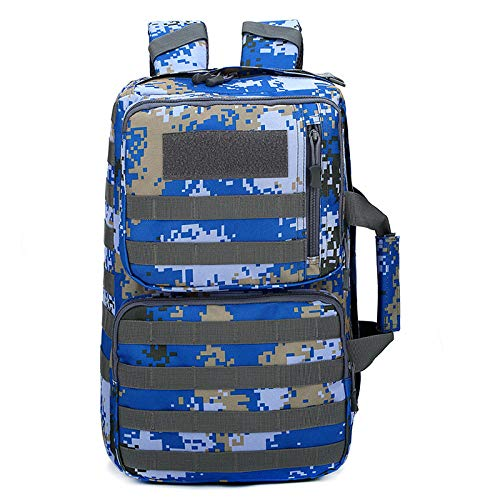 militaire rugzak, trekkingrugzak, camouflage, tactische tas voor laptop, mol, camping, sporttas, reizen, Armada (stad) (blauw) - HBP107