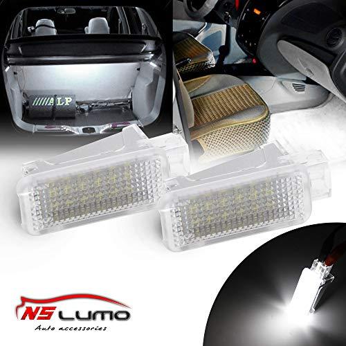 Nslumo - Luce per targa auto posteriore o vano portabagagli, a LED, luce bianca super luminosa, serie V-W