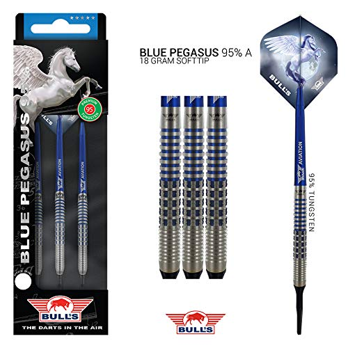 Bull's NL Soft Darts Blue Pegasus 95% Tungsten Softtip Darts Softdart 18 g