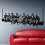 Hollywood Lunch Etiqueta de la pared Estrella de cine Pegatinas de pared Estilo americano decoración del hogar Mural decoración de la casa para sala de estar o dormitorio 161x70cm
