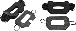 D DOLITY 100 Pieces Black Non Woven VR Universal Sanitary Disposable Eye Mask Virtual Reality Headset Hygiene Covers Blindfold