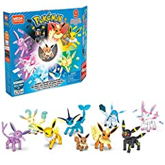 ​ Buildable Eevee, Vaporeon, Jolteon, Flareon, Espeon, Umbreon, Leafeon, Glaceon, Sylveon figures ​ Each figure is fully articulated ​ Simple, organized, color coded building and instructions ​ Display with other Pokémon construction sets from Mega C...