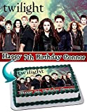 Twilight Edible Image Cake Topper Party Personalized 1/4 Sheet
