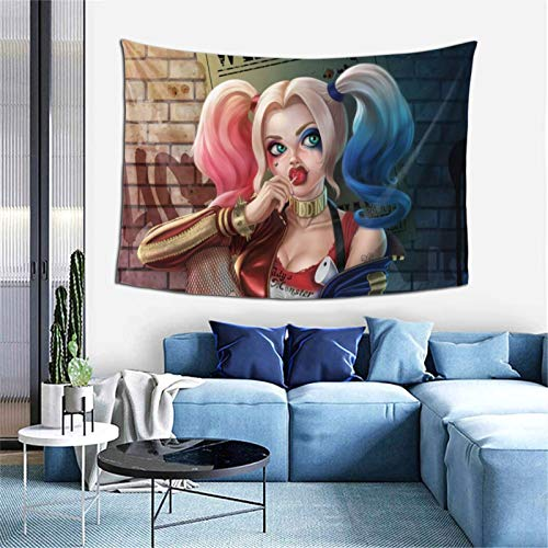 BAODANLA Harley-Quinn Tapestry Cartoon Wall Hanging Home Decor for Party Living Room Bedroom Dorm Room Birthday Gifts 60'X40'