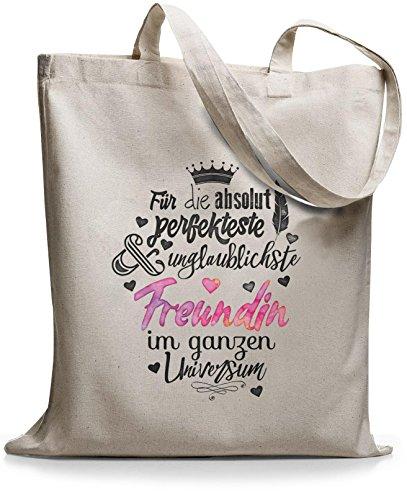 StyloBags Jutebeutel/Tasche Für die absolut perfekteste Freundin, Farbe:natur