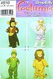 Simplicity 4910 Costume Pattern Kids Size 1/2 - 4 Toddler Monkey Fairy Frog Lion...