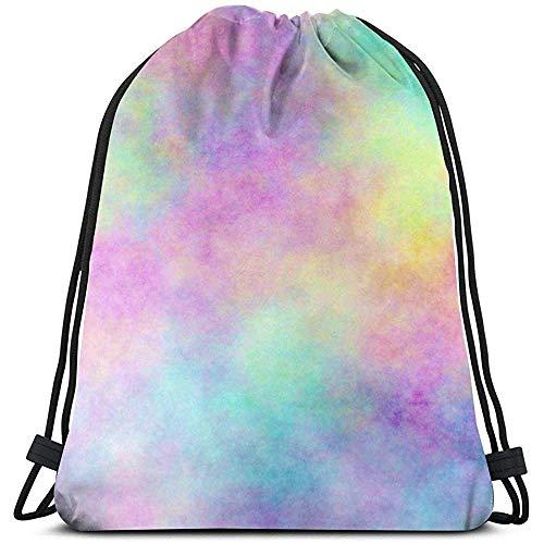 GeorgoaKunk Kordelzug Rucksack Opal Medium 3D-Druck String Bag Sackpack Cinch Tragetaschen Geschenke für Frauen Männer Fitnessstudio Einkaufen Sport Yoga