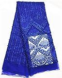 PENVEAT Perlen Spitze blau französisch Spitzegewebe