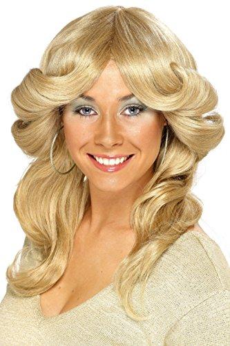 Smiffys dames disco pruik 70 Eén maat Blondine