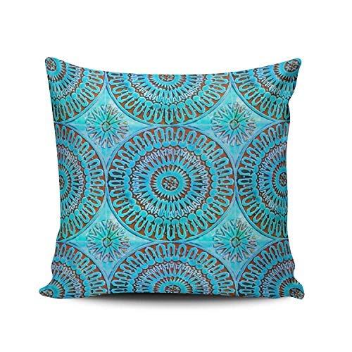 WSMBDXHJ - Funda de cojín (66 x 66 cm), diseño de Azulejos marroquíes