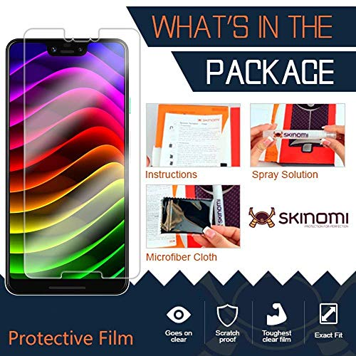 Skinomi TechSkin [2-Pack] (Case Compatible) Clear Screen Protector for Google Pixel 3 XL Anti-Bubble HD TPU Film