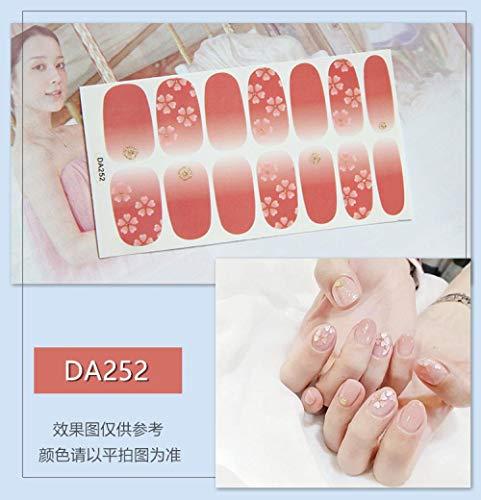 BGPOM Nail Sticker Avocado Full Sticker Strawberry Rainbow Cat Eye Waterproof Nail Polish Sticker 10 Pieces/Set,DA252
