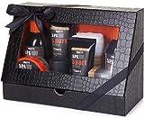 BRUBAKER Cosmetics Set di Cura per Gli Uomini Spa Sport 8 Parti con Gel Doccia, Shampoo, Deodorante, Crema per Il Viso, Peeling, Lozione per Il Corpo, Sapone