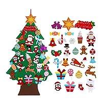 クリスマスツリー 家のクリスマスツリーの飾りサンタクロースの子供クリスマスの装飾を感じましたクリスマスの装飾 (Color : Christmas tree 6)