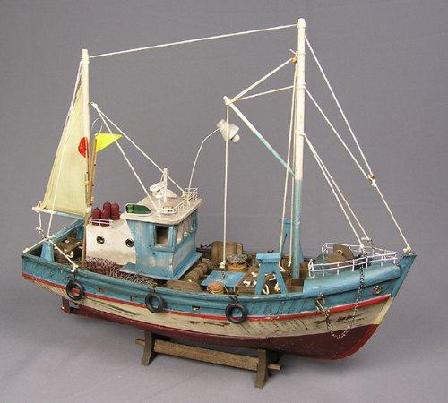 Kutter Fischkutter Modell Standmodell Maritim Deko Dekoration Fischerboot Kutter Fischer Sylt