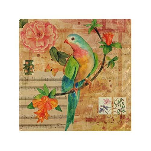 Lerous Tovaglioli Vintage Bird Flower Party Wedding Luncheon Compleanno Home Decor panno morbido 20 x 50,8 cm Set di 1 Set of1 Multi