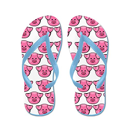 CafePress Cute Pink Pigs Flip Flops, Funny Thong Sandals, Beach Sandals
