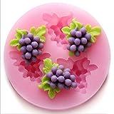 SHINA tres agujeros, hortalizas, fruta 3D silicona base moldes azúcar herramientas Craft-Molde para...
