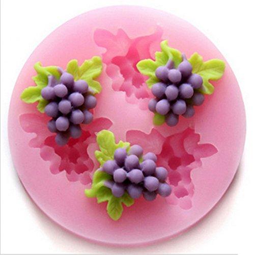 SHINA tres agujeros, hortalizas, fruta 3D silicona base moldes azúcar herramientas Craft-Molde para tarta de chocolate con Biscuit de jabón para Flan de gelatina